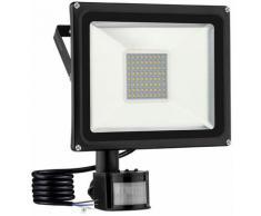 5 PCS 50W Projecteur LED SMD Lampe Extérieure Mit Bewegungsmelder Blanc Chaud LLDUK-D4NGPBT50W220VX5