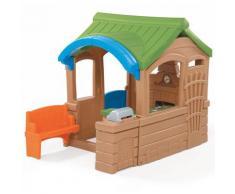 Gather & Grille Maison Enfant en Plastique | Maison de Jeux pour l'extérieur / jardin ou