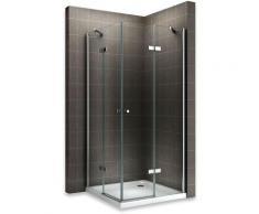 MAYA Cabine de douche H 190 cm en verre transparent 75x90 cm