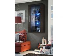 Price Factory - Vitrine LED Murale Design Neo II 110cm Wengé avec système LED. - Marron