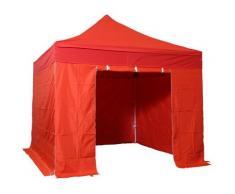 Tente pliante pergola tente de jardin tonnelle 3x3 M en Acier et Polyester 300g/m² Barnum avec
