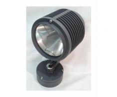 Projecteur extérieur orientable sur patère graphite 280mm lampe iodure G8.5 12V 35W max (non incl)