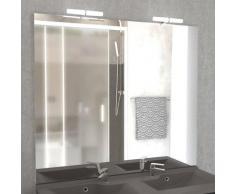 Miroir MIRCOLINE avec appliques lumineuses LED - 140x105cm