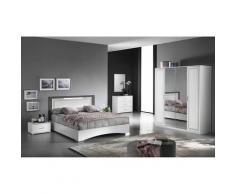 Altobuy - FADILY - Chambre Complète 160x200 avec Armoire 4 Portes