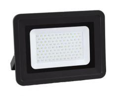 Lampesecoenergie - LED Projecteur Lampe 100W Noir 6000K IP65 Extra Plat