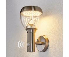 LED Lampe Exterieure Detecteur De Mouvement 'Etta' en inox