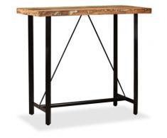 True Deal Table de bar Bois massif de récupération 120 x 60 x 107 cm