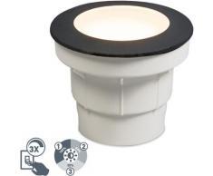 Spot encastrable au sol extérieur Moderne noir avec LED IP67 - Ceci Qazqa Moderne Luminaire