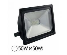 Projecteur Led 50W (450W) IP65 Finition noir Blanc jour 6000°K