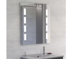 Miroir anti-buée 70x80 cm - éclairage intégré à LED et interrupteur sensitif - Prestige
