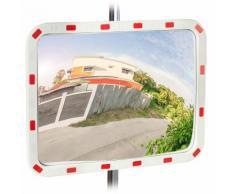 Miroir de circulation, résistant aux intempéries, professionnel, avec fixation, ABS - Plastique,
