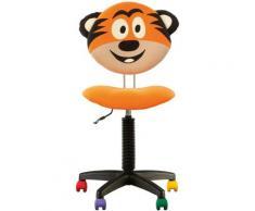 Fauteuil Jouet Tigre, Chaise De Bureau Pour Enfant. Orange.