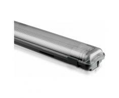 Luminaire LED TL V-tac 150cm, 44W, 4000LM, 6400K Blanc Neutre, IP65, avec 2x tuyaux LED