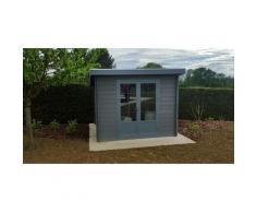 Green Outside - Abri de jardin composite 3x3 toit plat contemporain