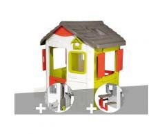 Cabane enfant Neo Jura Lodge + Récupérateur d'eau + Table pique-nique - Smoby
