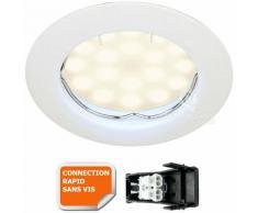 Lampesecoenergie - SPOT LED ENCASTRABLE COMPLETE RONDE FIXE eq. 50W BLANC NEUTRE