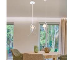 Wottes - Lot de 2 Lustre Suspension Créatif Industriel Plafonnier Design Gens E27 pour Chambre