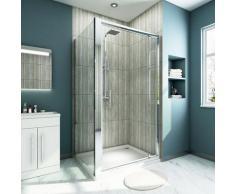 Cabine de douche 100x70x185 cm Porte pivotante en verre securit - Sirhona