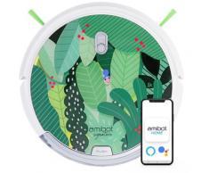 Robot aspirateur et laveur connecté Signature Edition Jungle - Green - Amibot