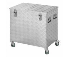 Coffre de rangement aluminium 772 x 525 x H645mm