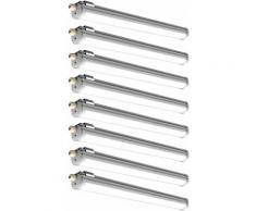 Etc-shop - 8x lumière de baignoire à LED lampe de sous-sol lumière éclairage de pièce humide 18W