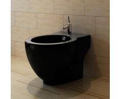 Bidet rond à poser en céramique sanitaire noir