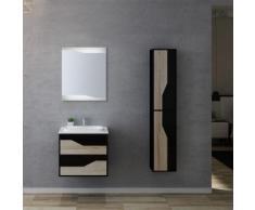 Meuble de salle de bain simple vasque URBINO 600 Scandinave et Noir