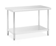 Table De Travail Inox Professionnelle Plan De Travail Étagère 120*60 cm 110 kg