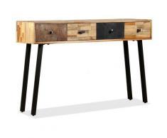 Helloshop26 - Buffet bahut armoire console meuble de rangement teck massif de récupération 120 cm
