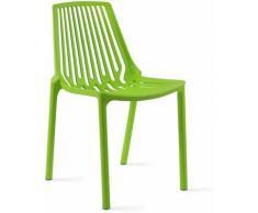 Chaise de jardin ajourée en plastique - Vert