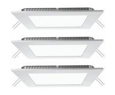 3x LED plafonniers encastrés salle à manger spots en aluminium grille lampes blanc