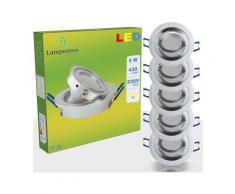 Lampesecoenergie - LOT DE 5 SPOT LED ENCASTRABLE ORIENTABLE 5W eq. 50W, BLANC CHAUD ref.64853000