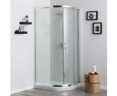 CABINE DE DOUCHE TRANSPARENTE ANGULAIRE DE 70x90 VERSION A-S