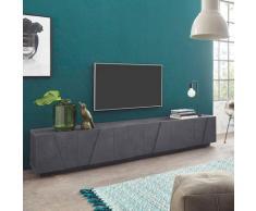 Ahd Amazing Home Design - Meuble TV de salon design moderne avec 6 portes et 3 compartiments Ping