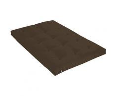Idliterie - Matelas Futon Coton Couleur - Chocolat, Dimensions - 160 x 200 cm