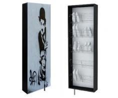 SWIVBOX | Armoire à chaussures avec porte pivotante 190x63.6x18 cm | 5 étagères en acier |