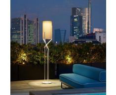 Lampadaire design minimaliste moderne en métal Aura   Couleur: Gris - Slide