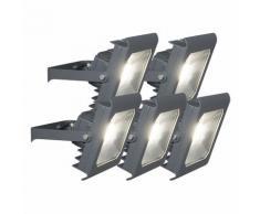 Projecteur LED Radius 2 30W Graphite / Antracite / Gris Foncé 4000K - set de 5 Qazqa Moderne