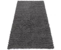 Rugsx - FLOKATI EN LAINE - Couvre-lit, Plaid gris nuances de gris et argent 250x350 cm
