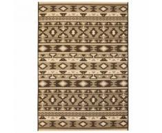 Hommoo Tapis extérieur/intérieur Style sisal 120x170cm Design ethnique