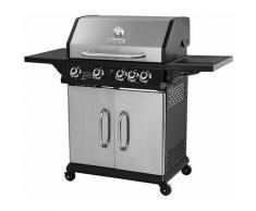 Brasero - Barbecue Perth Inox Brasero 4 Feux + 1 - Jusqu'à 12 convives - Surface de cuisson 70 x 42