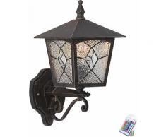 7 watts lampe murale extérieure dimmable terrasses rouille lampe en aluminium incl. Ampoules LED RGB