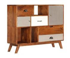Helloshop26 - Buffet bahut armoire console meuble de rangement 115 cm bois solide d'acacia - Bois