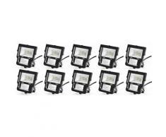 10×Anten Projecteur LED 10W Spot LED IP65 Éclairage Extérieur et Intérieur Blanc Froid 6000-6500K