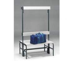 Banc pour vestiaire en acier, pour environnements humides - h x p 1600 x 695 mm - L 1015 mm, sans