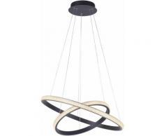 Lampe à suspension LED spot de plafond en cristal SWITCH DIMMER suspension à anneau réglable en