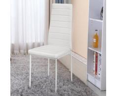 WYCTIN® Chaise Salle à Manger ,Blanc , Lot de 2 , Chaise de Cuisine , Chaise de Bar, Chaise de