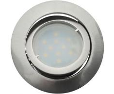 Lot de 20 Spot Led Encastrable Complete Satin Orientable lumière Blanc Neutre eq. 50W ref.895