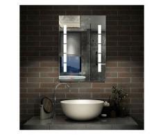 Miroir LED anti-buée 80x60cm miroir de salle de bain