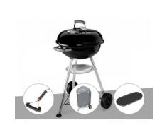 Barbecue Compact Kettle 47 cm + Brosse + Housse + Plancha - Weber